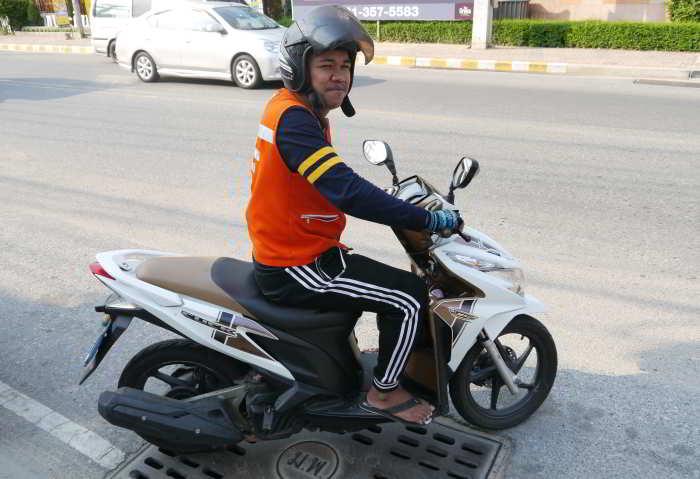 motorcycle taxi, Pattaya Thailand