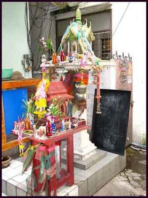 Two Thai Spirit Houses off Walking Street in Pattaya
