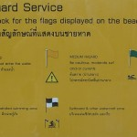 Thailand Beach Hazards and Warning Flags