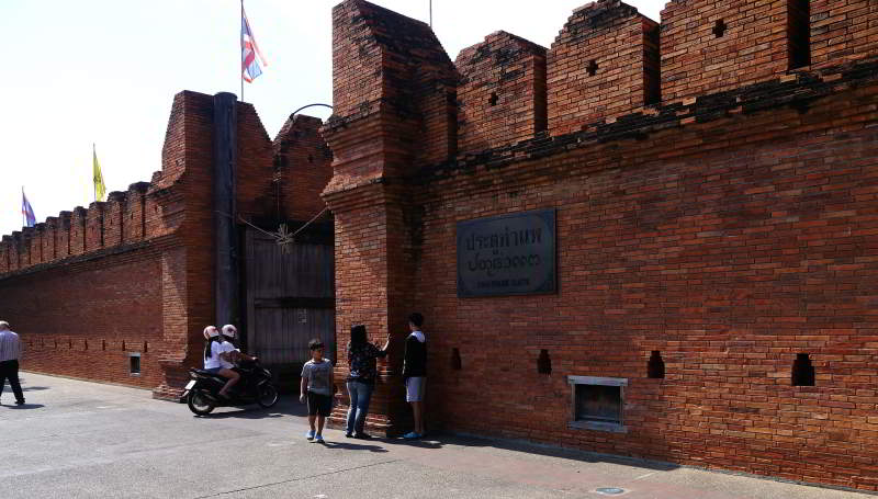 The old Chiang Mai City Wall