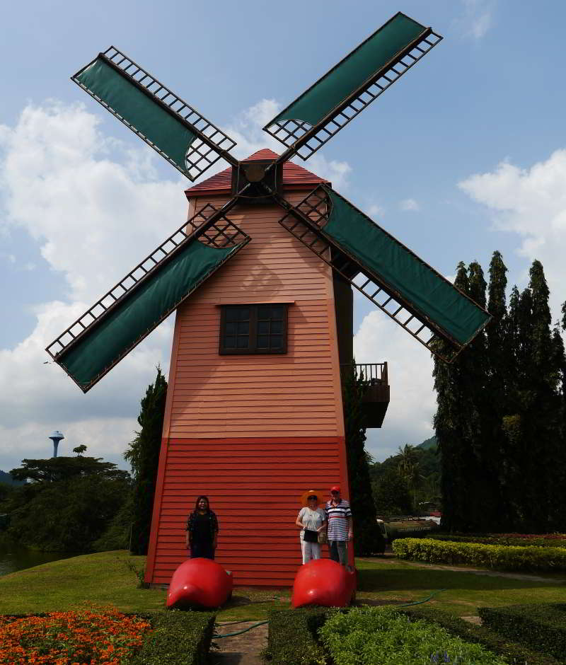Windmill at Silver Lake vineyard, Pattaya Thailand