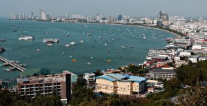 View of Pattaya, Thailand from the Pattaya viewing point