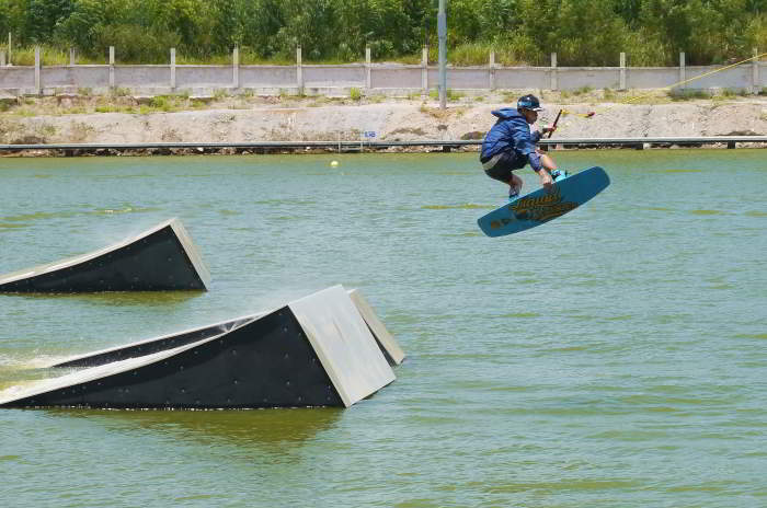 Wakeboarding in Pattaya, Thailand