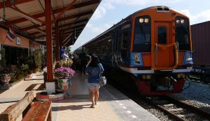 First Bangkok to Pattaya Weekend Train at Pattaya Train Station